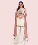 Cream Salwar Kameez 1