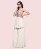 Cream Salwar Kameez 2