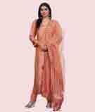 Peach Salwar Kameez 1