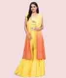 Mustars/Orange Salwar Kameez 1