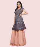 Peach/Navy Blue Lehenga Choli 2