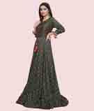 Dark Green Salwar Kameez 2