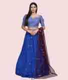 Royal Blue Lehenga Choli 1
