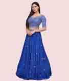 Royal Blue Lehenga Choli 2