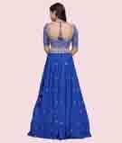 Royal Blue Lehenga Choli 3