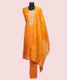 Mustard Yellow Unstitched Salwar Kameez 1