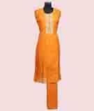 Mustard Yellow Unstitched Salwar Kameez 2