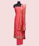 Coral/Orange Unstitched Salwar Kameez 1