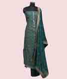 Green Unstitched Salwar Kameez 1