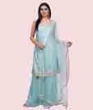 Sky Blue Salwar Kameez 1