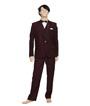 Maroon Coat Suit 1