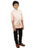 Peach Waist Coat Shirt 2