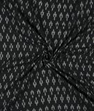 Black And Snow White Geometric Pattern Pre-Washed Mercerised Ikat Cotton Fabric 1
